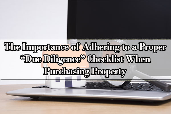 what does due diligence mean in real estate