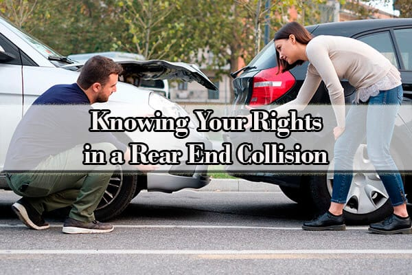 what to do when you are rear ended