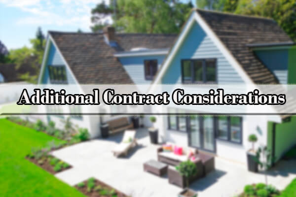 Why Home Buyers and Sellers Need A Lawyer Additional Contract Considerations