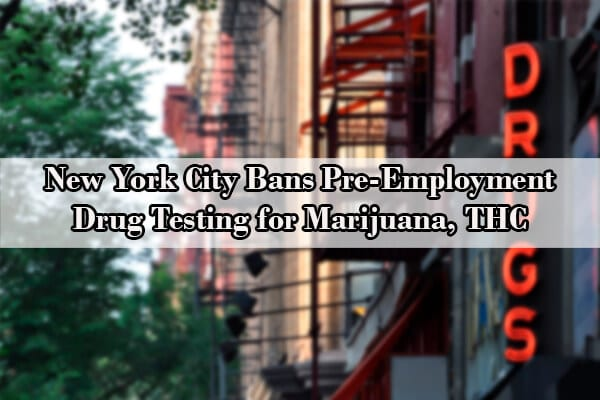 new york pre-employment drug testing