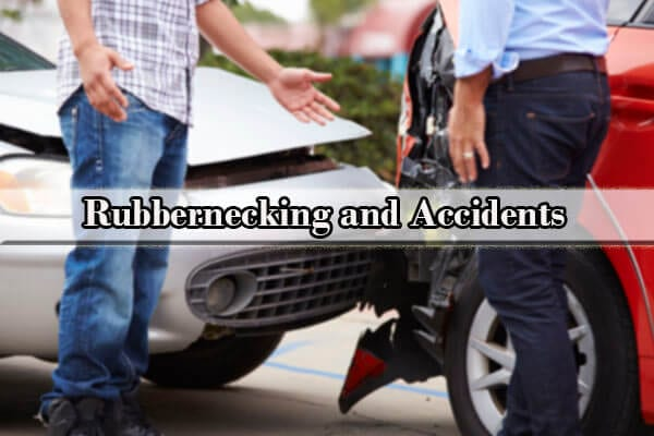 Rubbernecking causes accident