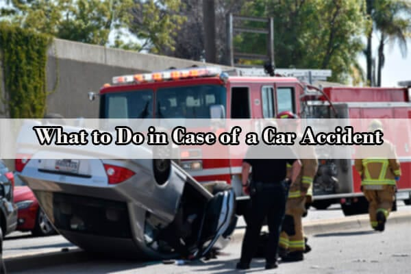 what to do in case of car accident