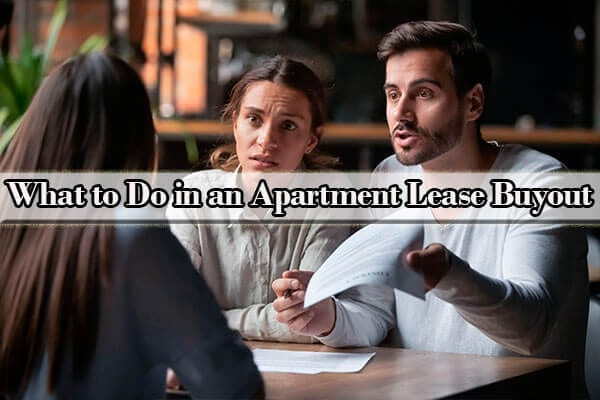 how to negotiate an apartment lease buyout