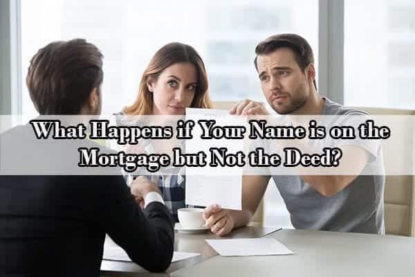 mortgage holder vs title holder