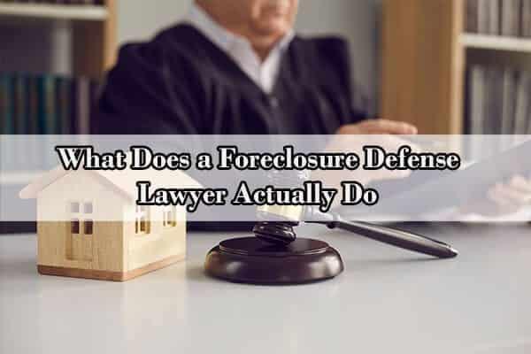 foreclosure advice
